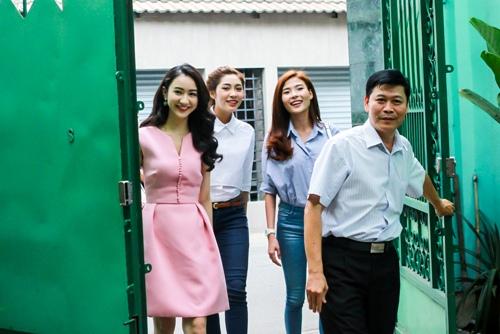 HH Thu Thảo, Hà Thu đến thăm nghệ sĩ Kim Cương-1