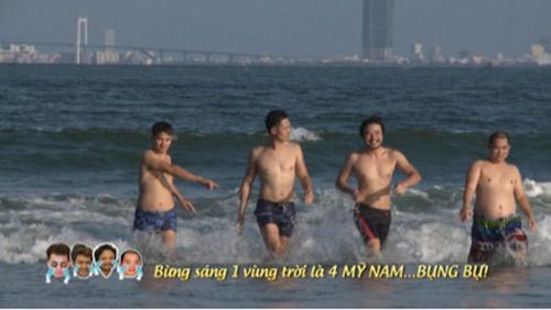 """Tập 31: Dàn """"mỹ nam"""" Bố ơi mình đi đâu thế """"khoe bụng"""" trên biển-1"""