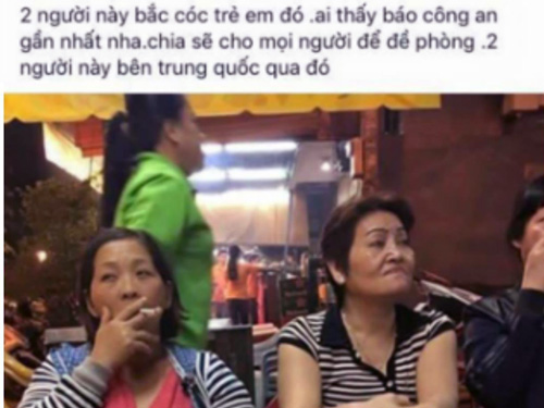 su that ve hai nguoi phu nu chuyen 'bat coc tre em' bi tung len mang - 1