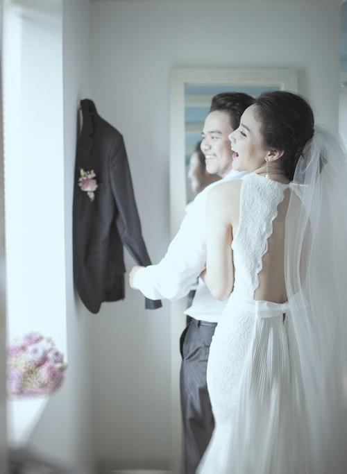 Ảnh cưới lãng mạn của Trang Nhung và ông xã đại gia-1