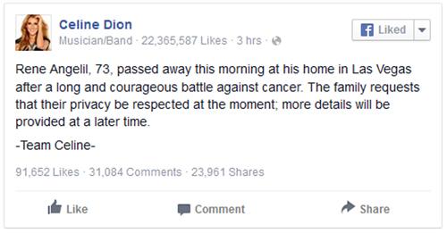 Chồng của diva Celine Dion qua đời ở tuổi 73-2