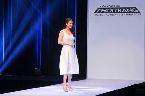 "truong ngoc anh vay ao ""that thuong"" tai project runway 2015 - 12"