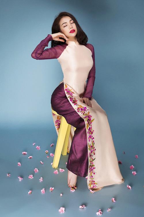 Trang điểm, làm tóc diện áo dài đẹp tựa Trà Ngọc Hằng-14
