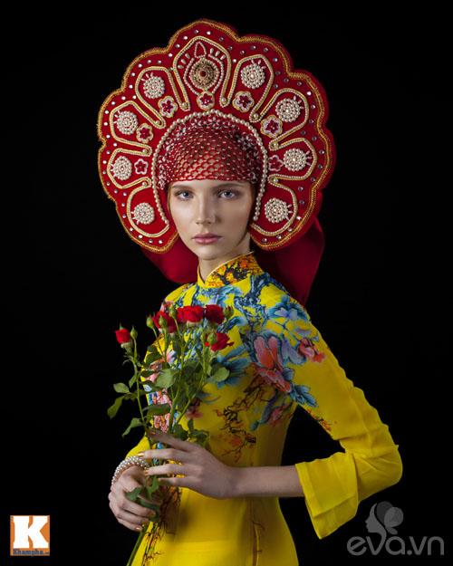 Chuyện tình yêu của cô gái Nga và áo dài Việt-2