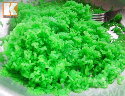 Xôi dẻo lá dứa nước cốt dừa béo ngậy thơm ngon-3