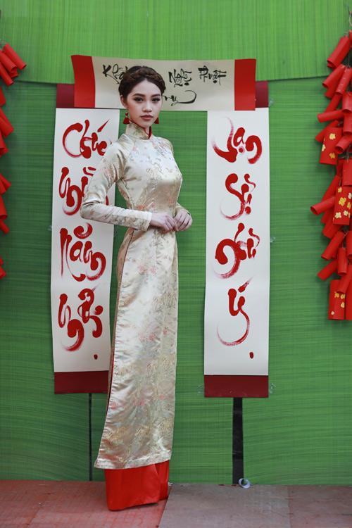 Hoa hậu Việt kiều hân hoan lần đầu mặc áo dài đón xuân-7