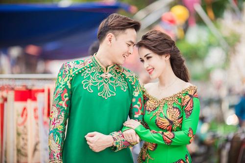 Tú Vi - Văn Anh diện áo dài ngọt ngào sánh đôi-3