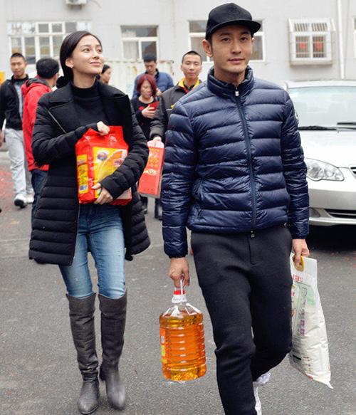 Vợ chồng Huỳnh Hiểu Minh - Angelababy vội vã về quê đón Tết-4