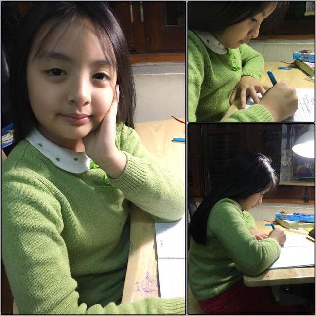 Bông là cô bé ngoan ngoãn và có tinh thần học tập chăm chỉ.