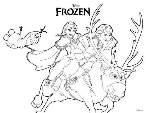 tranh to mau cong chua phim frozen cho be gai me man - 9
