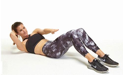 Image result for tập cơ bụng nữ