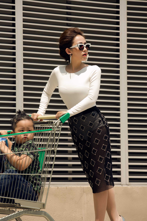 tin do thoi trang viet khoe con trong anh street style - 4