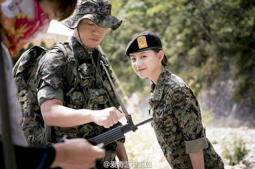 """vo jin goo ung ho chong """"yeu"""" kim ji won trong hau due cua mat troi - 3"""