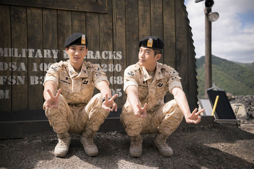 """vo jin goo ung ho chong """"yeu"""" kim ji won trong hau due cua mat troi - 14"""