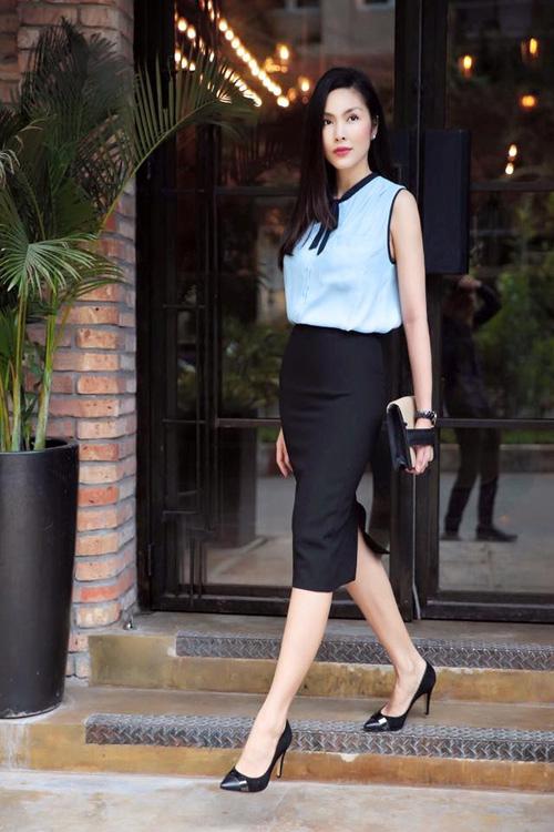 Nữ công sở mặc đẹp như Hà Tăng không hề khó!-3