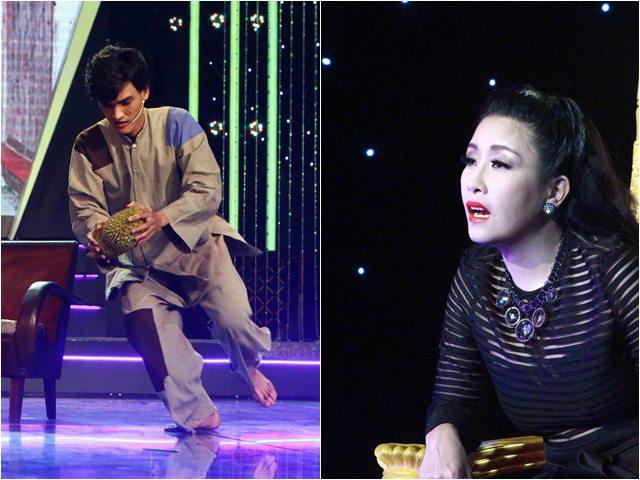 Sàn đấu danh hài: Mạc Văn Khoa dùng sầu riêng rạch mặt trên sân khấu