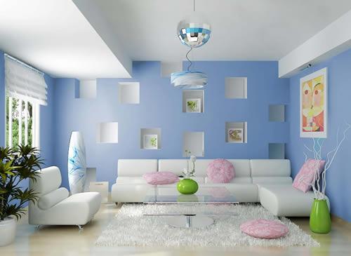 Image result for tường sơn màu nước