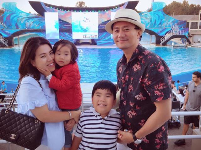 Trương Minh Cường hạnh phúc bên vợ đại gia và hai con tại Mỹ