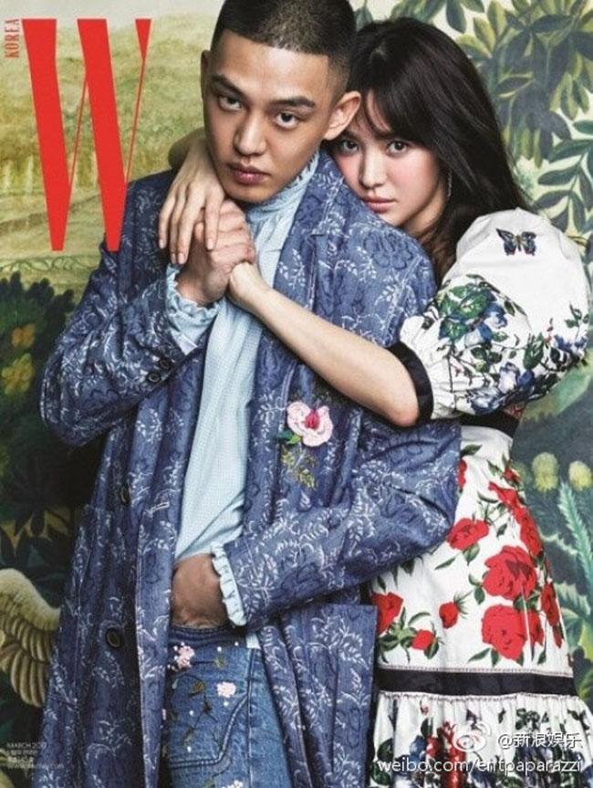 Song Hye Kyo bất ngờ kết hợp cùng Yoo Ah In trên trang bìa tạp chí W số tháng 3 năm nay.