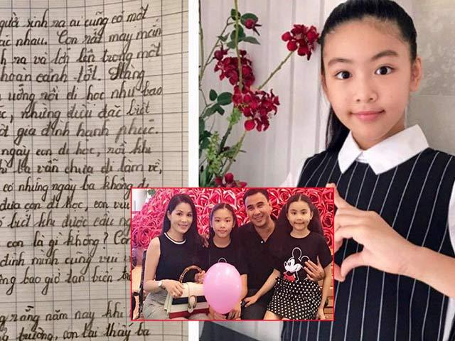 Xinh xắn, chữ đẹp, viết văn hay, vợ chồng Quyền Linh chắc chắn nở mũi vì con gái đầu lòng