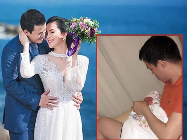 Hình ảnh đại gia mía đường - chồng Sang Lê cho con bú khiến người hâm mộ thích thú
