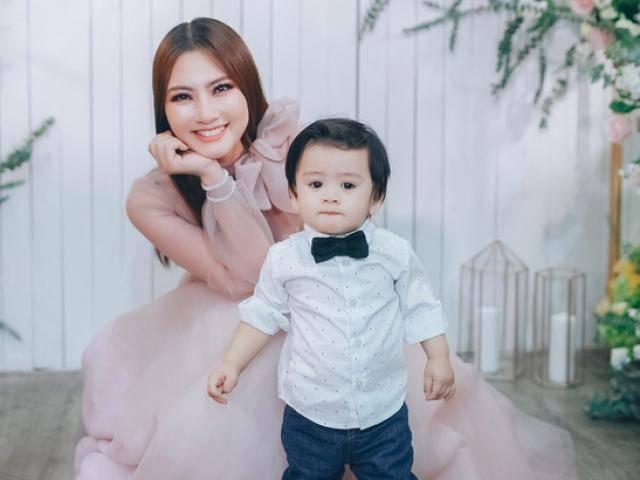 Diễn viên Ngọc Lan khoe con trai tròn 1 tuổi ngày càng bụ bẫm và đáng yêu