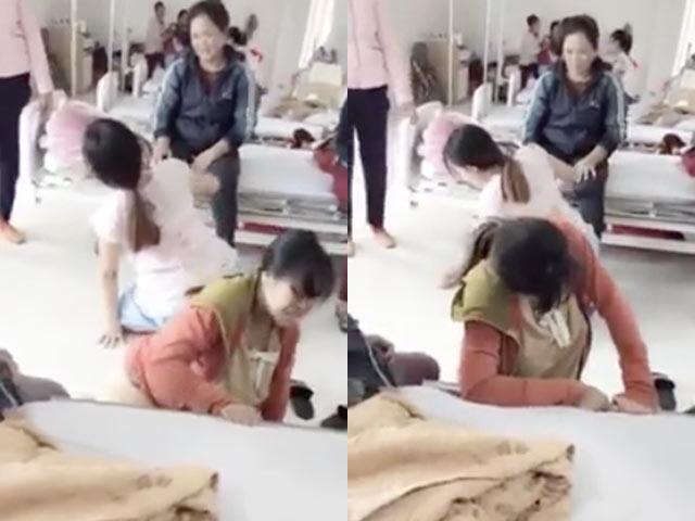 Clip mẹ bầu quằn quại trong phòng chờ sinh gây bão mạng, chị em bỉm sữa nhìn đã thấy đau