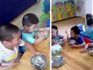 Phụ huynh bức xúc vì trường mầm non Thủ Đức cho bé ăn cơm cháy