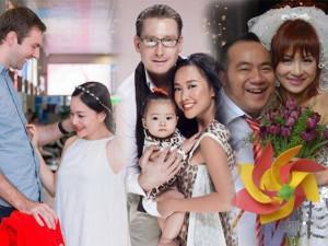 """Hạnh phúc bất ngờ của những cặp """"đũa lệch"""" trong showbiz Việt"""