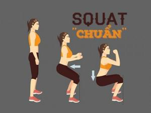 Squat nghe thì đơn giản nhưng chưa chắc bạn đã tập đúng cách!