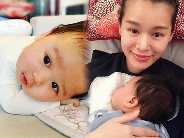 Ngắm con trai 3 tháng tuổi xinh như thiên thần của