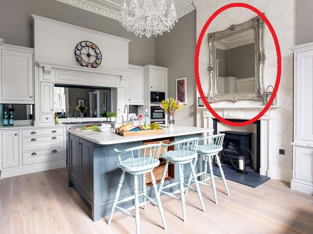 Muốn treo gương cho đẹp nhà bếp, cần hết sức tránh vị trí mất lộc - mất tình này