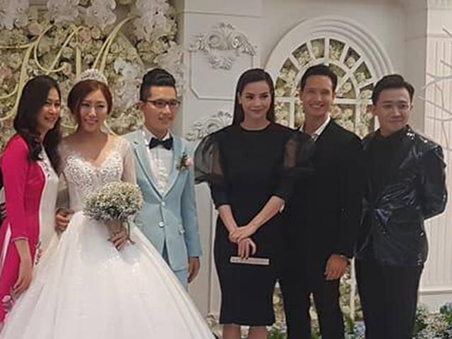 Hồ Ngọc Hà và bạn trai Kim Lý đến chúc mừng đám cưới em gái Trấn Thành