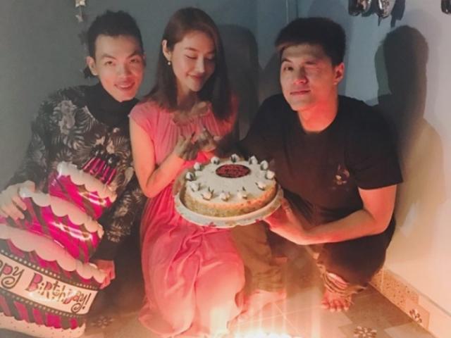 Lâm Vinh Hải đón tuổi mới bên con gái và người tình Linh Chi