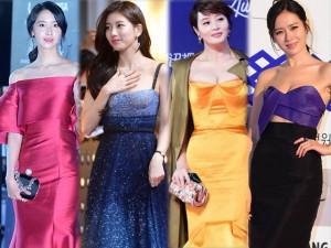 4 nữ hoàng thảm đỏ Hàn Quốc: Người lép kẹp, kẻ vòng 1 khủng nhưng mặc đẹp thì ngang nhau!