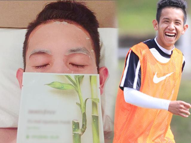 Trước thời khắc định mệnh, tuyển thủ U23 vẫn điềm tĩnh... bán son 3CE, đắp mặt nạ!