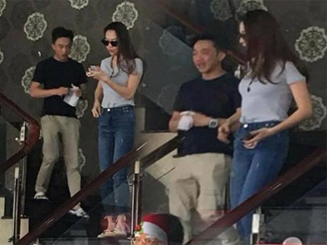 Cường Đôla và Đàm Thu Trang bị bắt gặp đi ăn cùng nhau bằng siêu xe