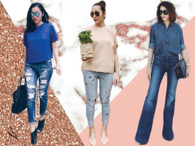Không hổ danh ngọc nữ showbiz, Tăng Thanh Hà chỉ quần jeans vẫn đẹp hút hồn!