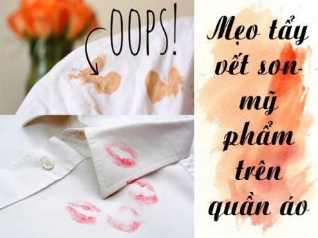 Bất ngờ trước cách mà nhân viên shop quần áo tẩy sạch vết bẩn từ son, mỹ phẩm!