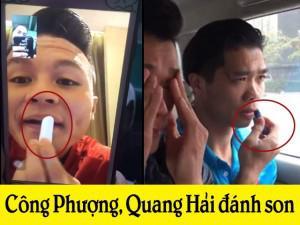 Quang Hải, Công Phượng lộ clip tô son thành thục như hotgirl khiến fan càng phát cuồng!