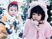 Làm mẹ - Hai chị em Việt lai Nhật cực đáng yêu trong bộ ảnh chụp dưới tuyết trắng xóa
