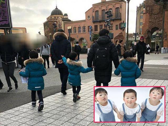 Hình ảnh lớn bổng của dàn nhóc tỳ sinh 3 Daehan, Minguk, Manse sau nửa năm sang Pháp