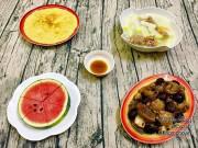 Bếp Eva - Gà om nấm, canh su hào hầm xương nóng hổi cơm chiều