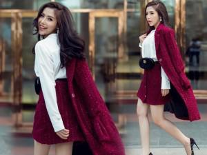 Á hậu Khánh Phương khoe gu thời trang ngập tràn hàng hiệu với sắc tím