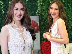 Ngôi sao 24/7: Mỹ nhân đẹp nhất Philippines lúng túng vì bộ váy xuyên thấu hở bạo
