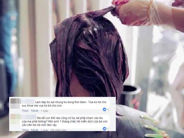 Sinh xong 1 tháng đã nhuộm tóc: Đẹp thiếu gì lúc, sao phải vội thế?