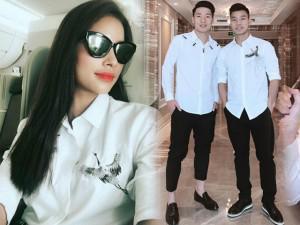Các chàng trai U23 Việt Nam bất ngờ đụng áo với Hoa hậu Phạm Hương, Trấn Thành
