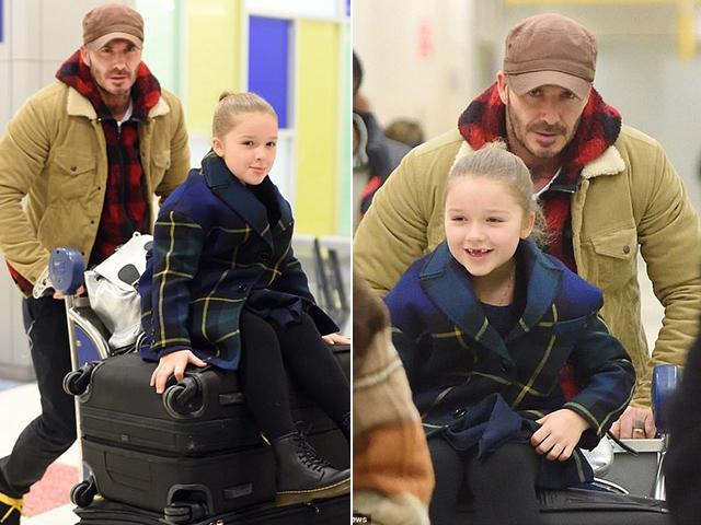 Đáng yêu như nhóc Harper Beckham mất 2 răng cửa vẫn cười tươi rói