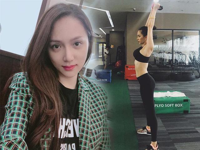 Hương Giang tích cực tập luyện thể hình để sẵn sàng lên đường thi Hoa hậu