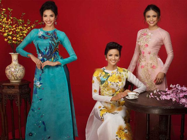 3 mỹ nhân đình đám của Hoa hậu Hoàn vũ Việt Nam khoe sắc với áo dài Tết